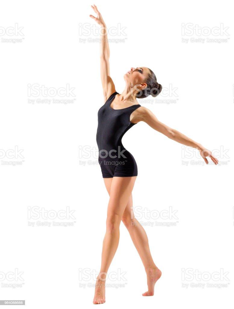 Ballerina (isolated on white ver) - Royalty-free Acrobat Stock Photo