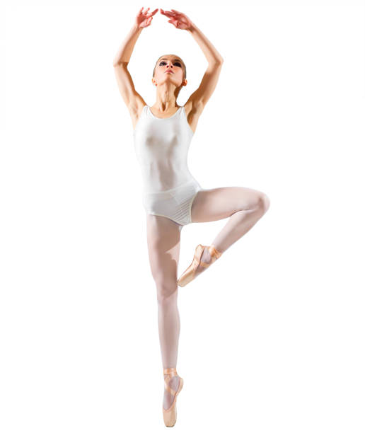 Ballerina (isolated on white ver) stock photo