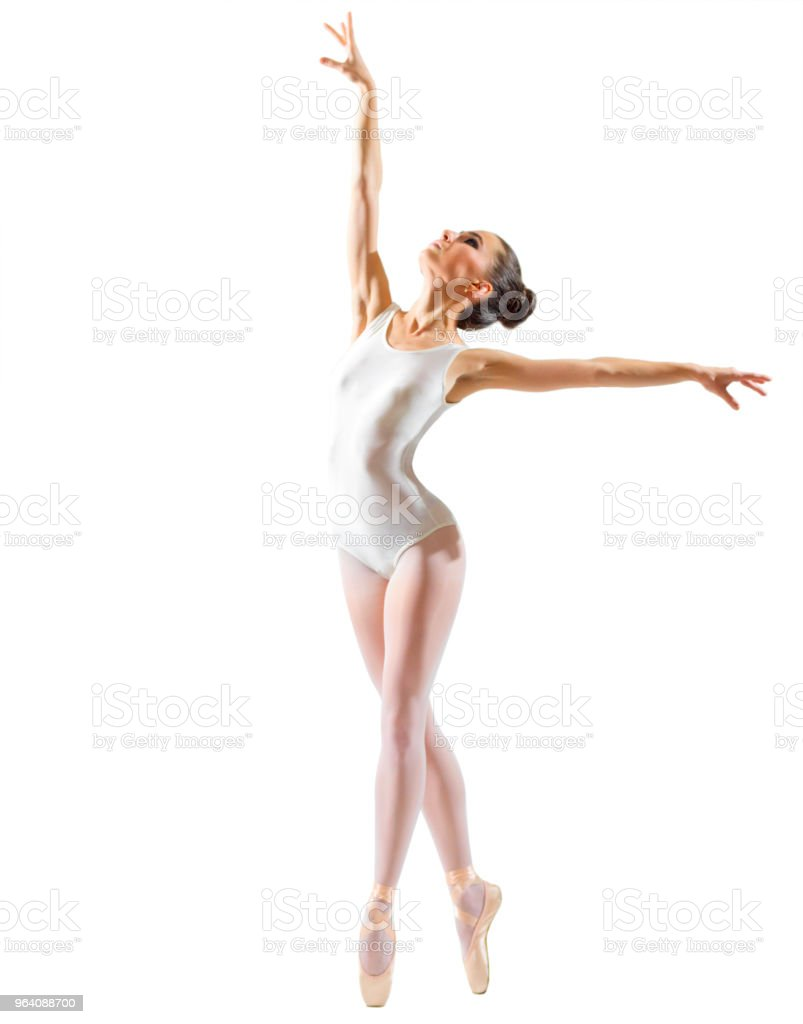 Ballerina (isolated on white ver) - Royalty-free Adult Stock Photo