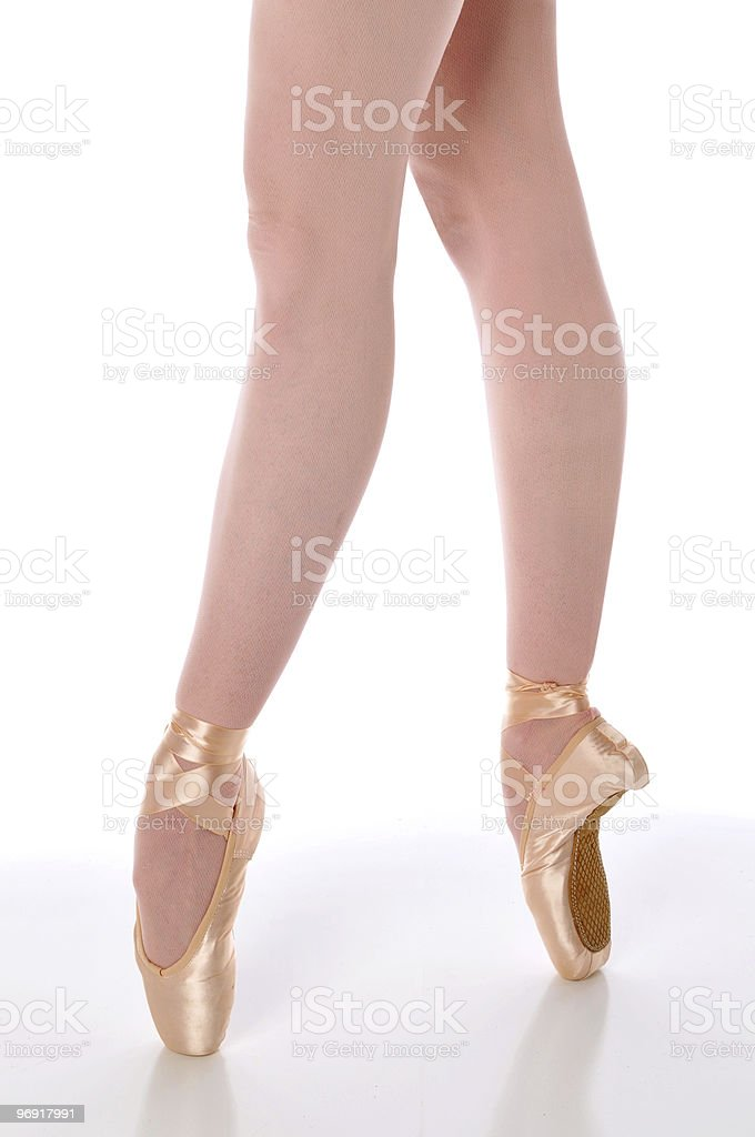 Ballerina shoes closeup royalty-free stock photo