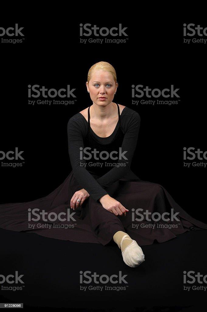 Ballerina Sitting. royalty-free stock photo