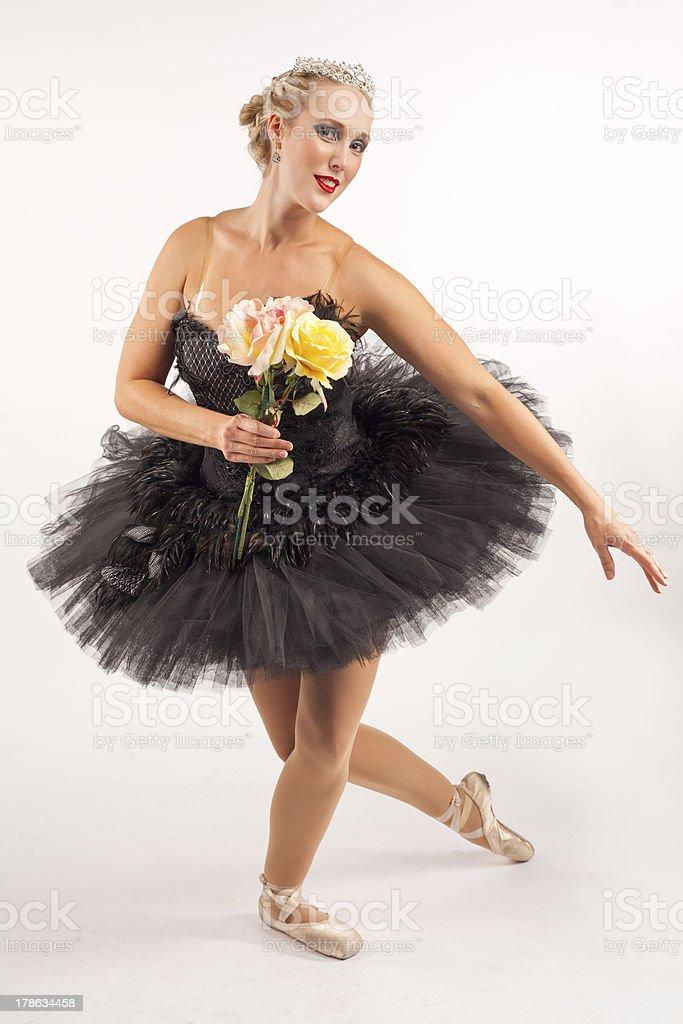 Ballerina taking a bow royalty-free stock photo