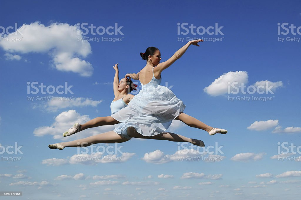 Ballerinas during performance royalty-free stock photo