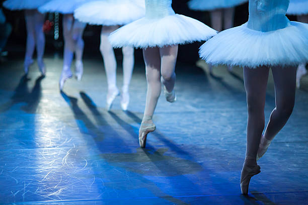 ballerinas in the movement. - prinzessinnenschuhe stock-fotos und bilder