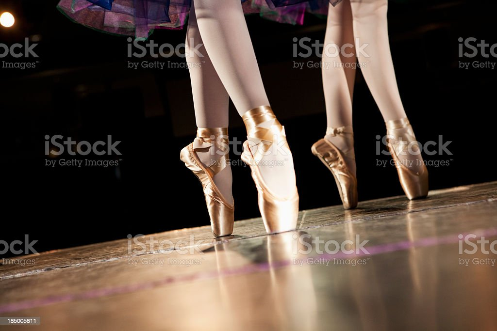 Ballerinas en pointe royalty-free stock photo