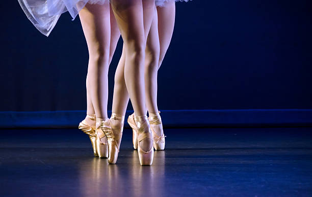 ballerinas on pointe stock photo