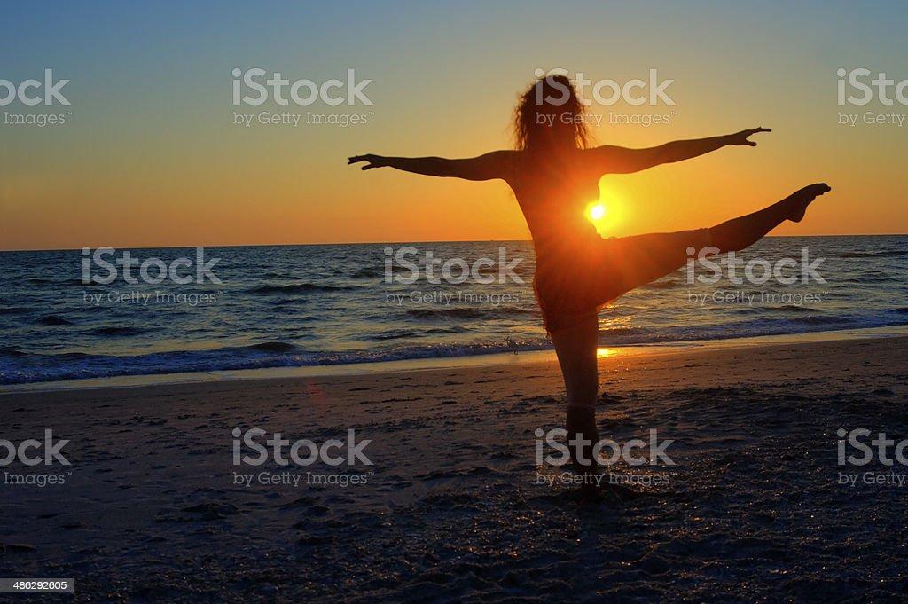 Ballet at Sunset stock photo