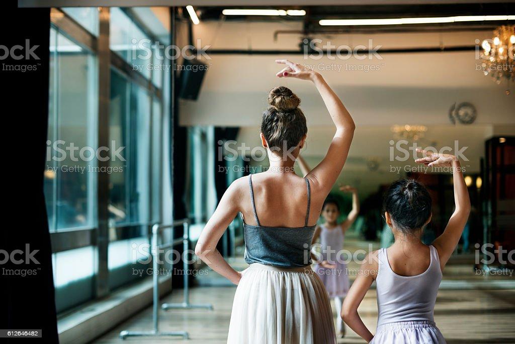 Ballet Ballerina Balance Posing Stretching Grace Concept - foto de acervo