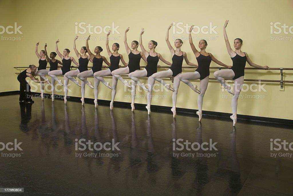 Ballet Class Instruction royalty-free stock photo