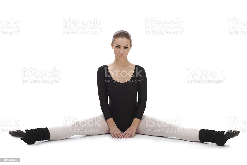 Ballet dancer performing splits royalty-free stock photo