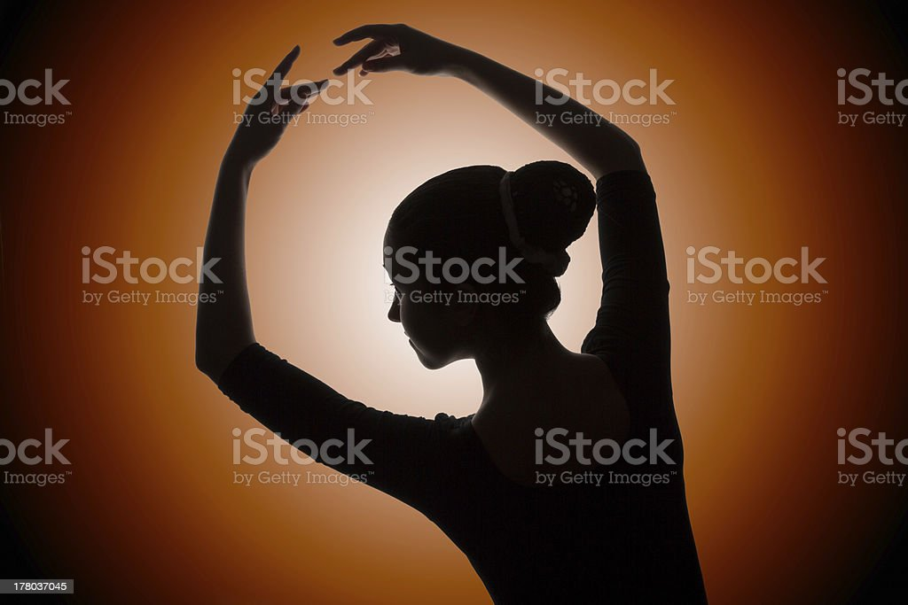 Ballet dancer posing royalty-free stock photo