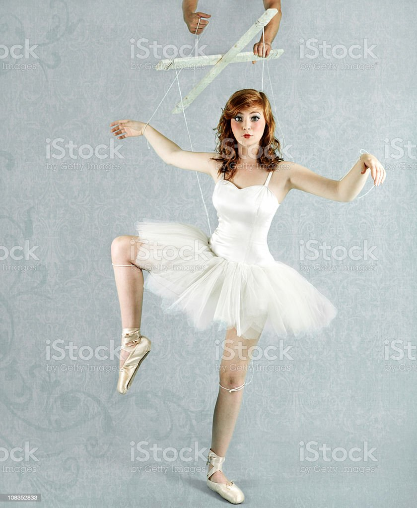 Ballet dancer puppet stock photo