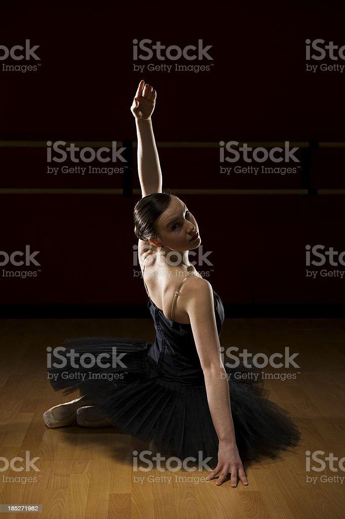 Ballet Dancer sitting stock photo