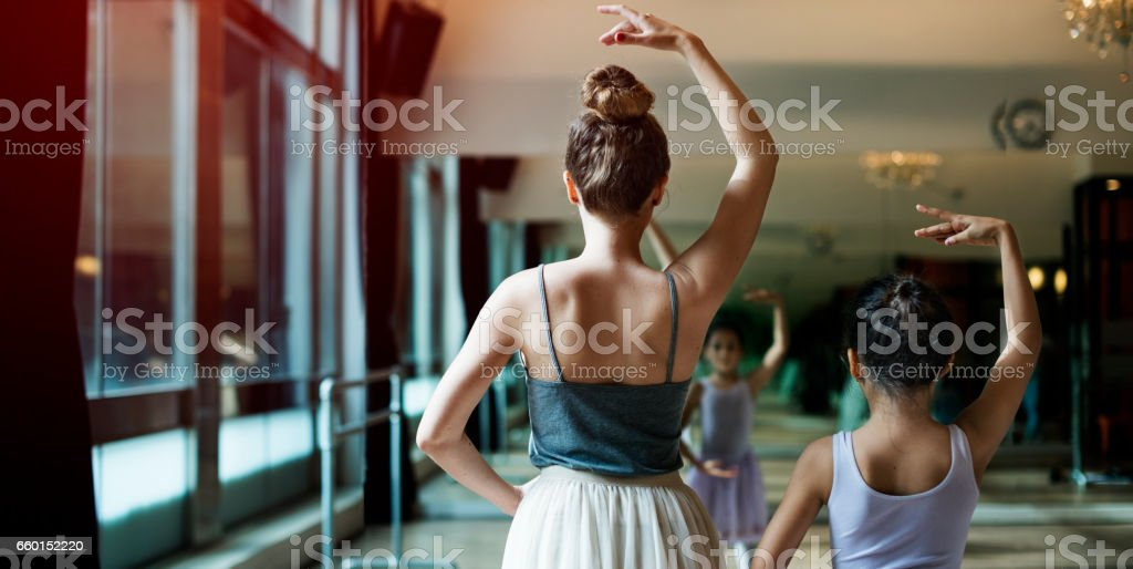 Ballet Dancer Training School Concept stock photo