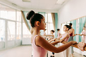 istock Ballet dancers during the class 1202533704