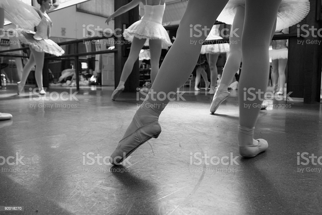 Ballet dancers pointed toes royalty-free stock photo