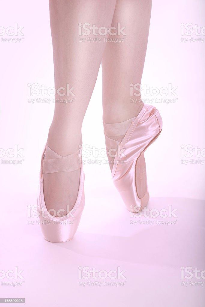 Ballet feet En Pointe royalty-free stock photo