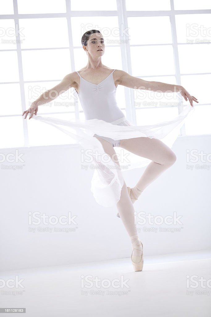 Ballet is all about controlled grace royalty-free stock photo