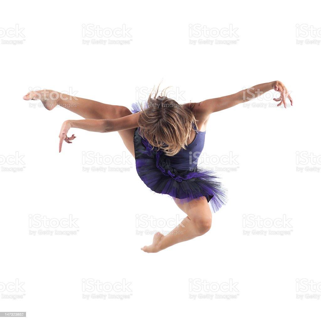 Ballet jump royalty-free stock photo
