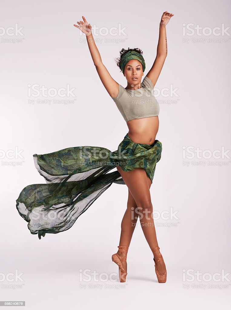 Ballet keeps me on my toes stock photo