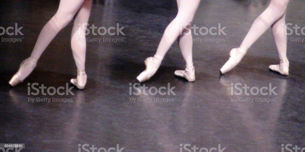 Ballet Music Foot Dancing Action stock photo