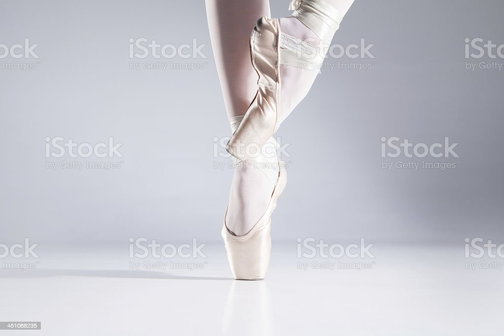 Ballet On Toes. stock photo