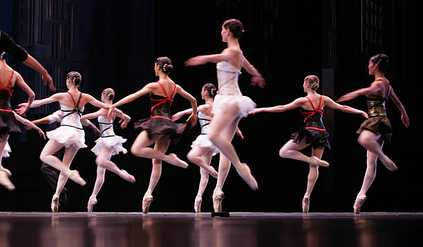 ballet ballet spectacle with dancers on stage performing arts event stock pictures, royalty-free photos & images