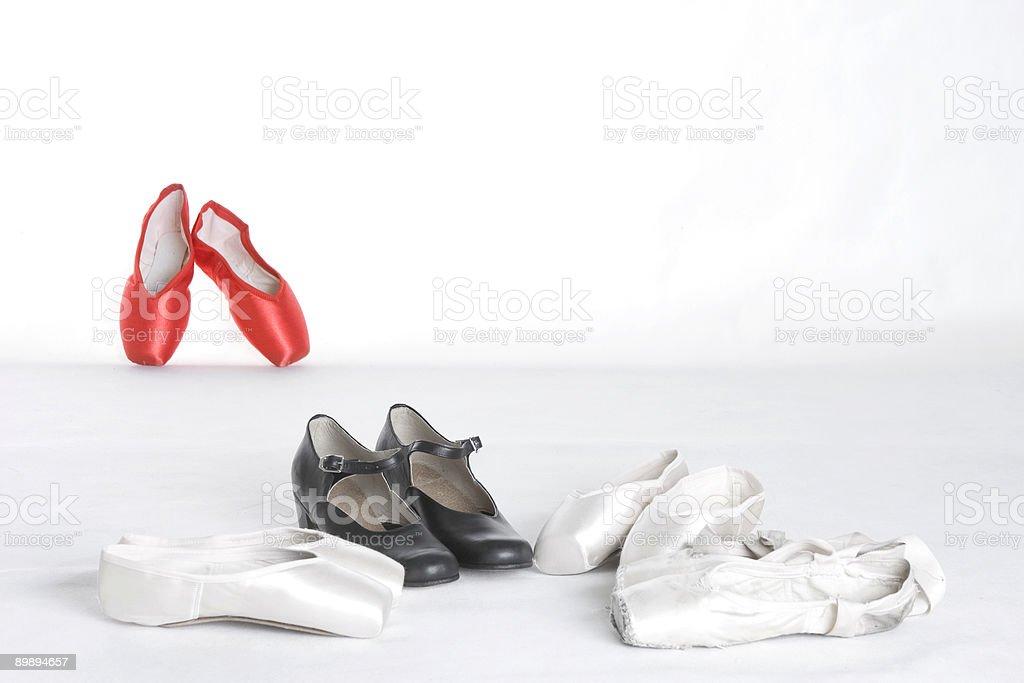 ballet pointes royalty-free stock photo