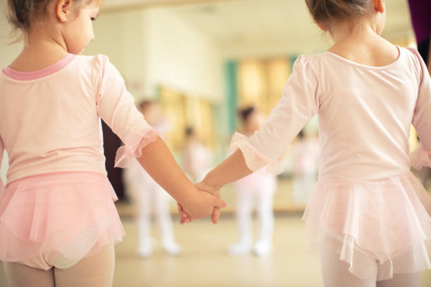 Ballet school class stock photo