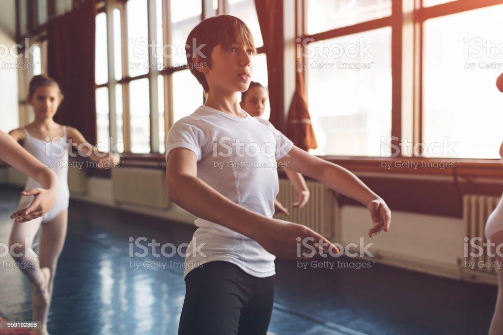 Ballet school stock photo
