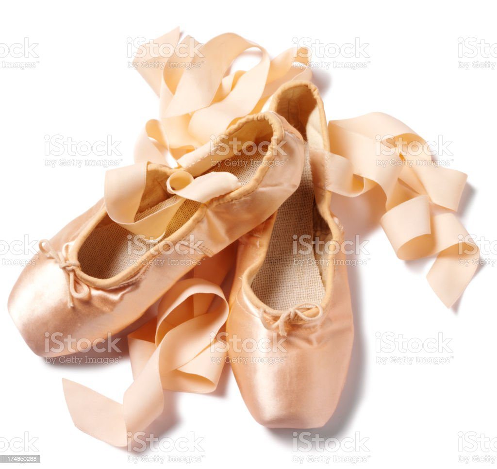 Ballet Shoes Isolated on White stock photo