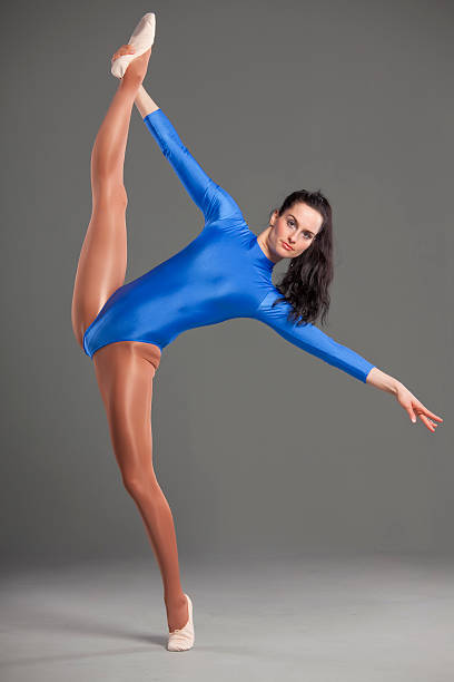 ballet splits - leotard stock photos and pictures