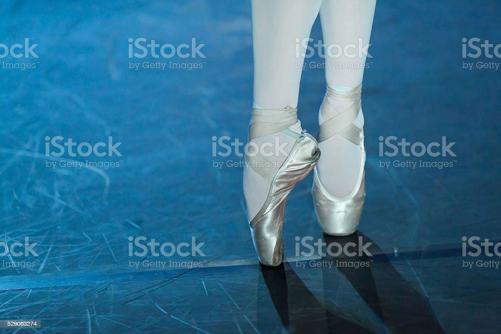 Ballet swan lake. ballet statement. Ballerinas in the movement. stock photo