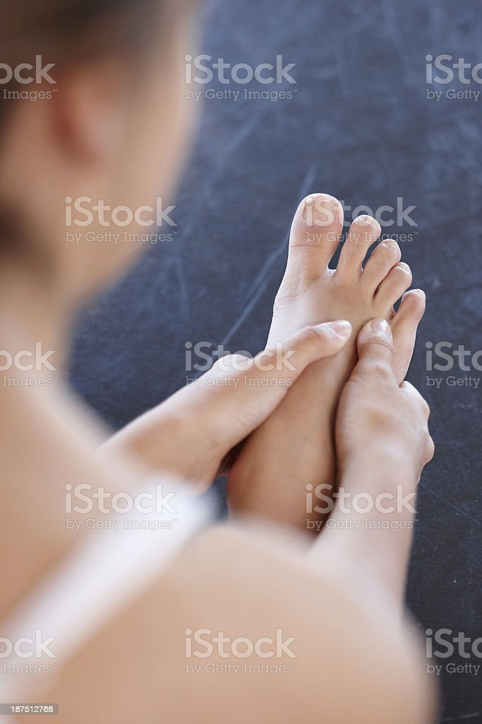 Ballet takes its toll on her your feet stock photo