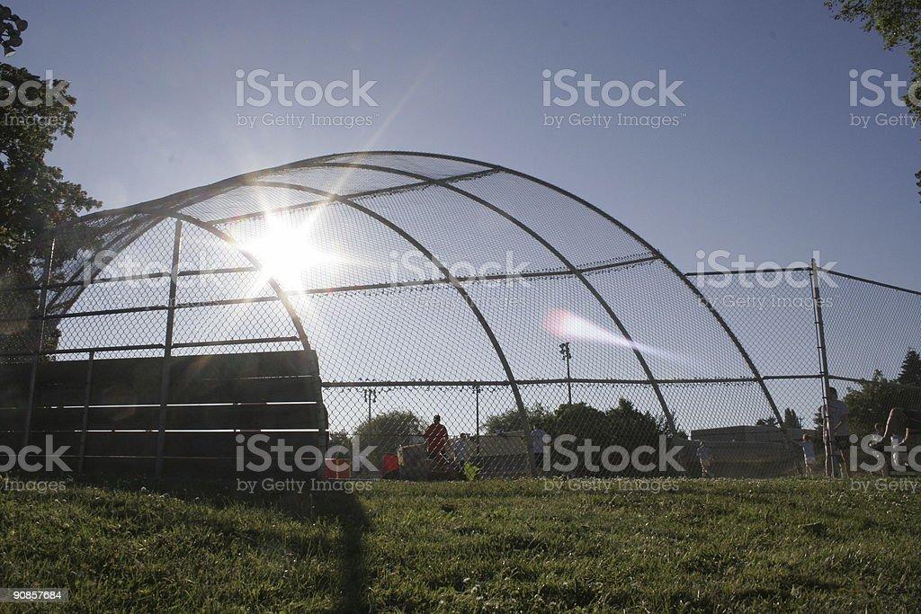 Ballfield royalty-free stock photo
