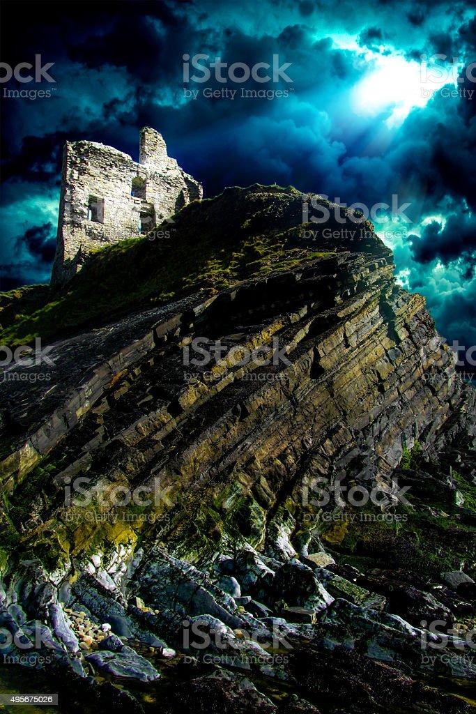 Ballibunion Castle Ruins stock photo