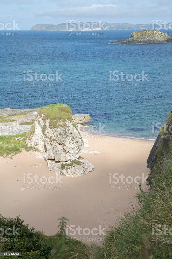 Ballintoy Harbour Beach; County Antrim stock photo