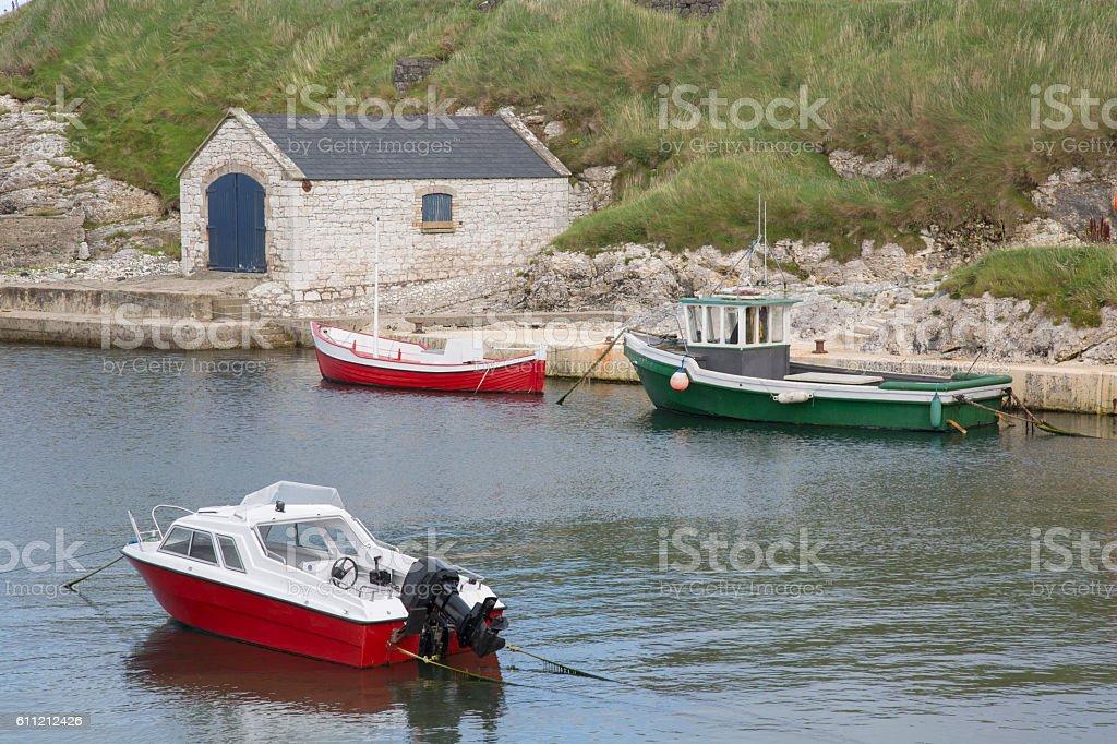 Ballintoy Harbour, County Antrim stock photo
