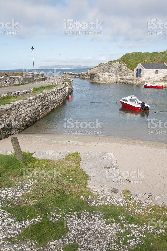 Ballintoy Harbour; County Antrim stock photo