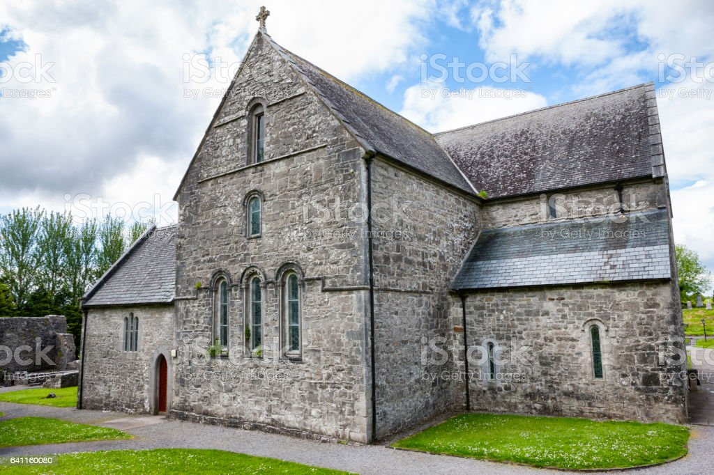 Ballintubber Abbey in County Mayo, Ireland. stock photo