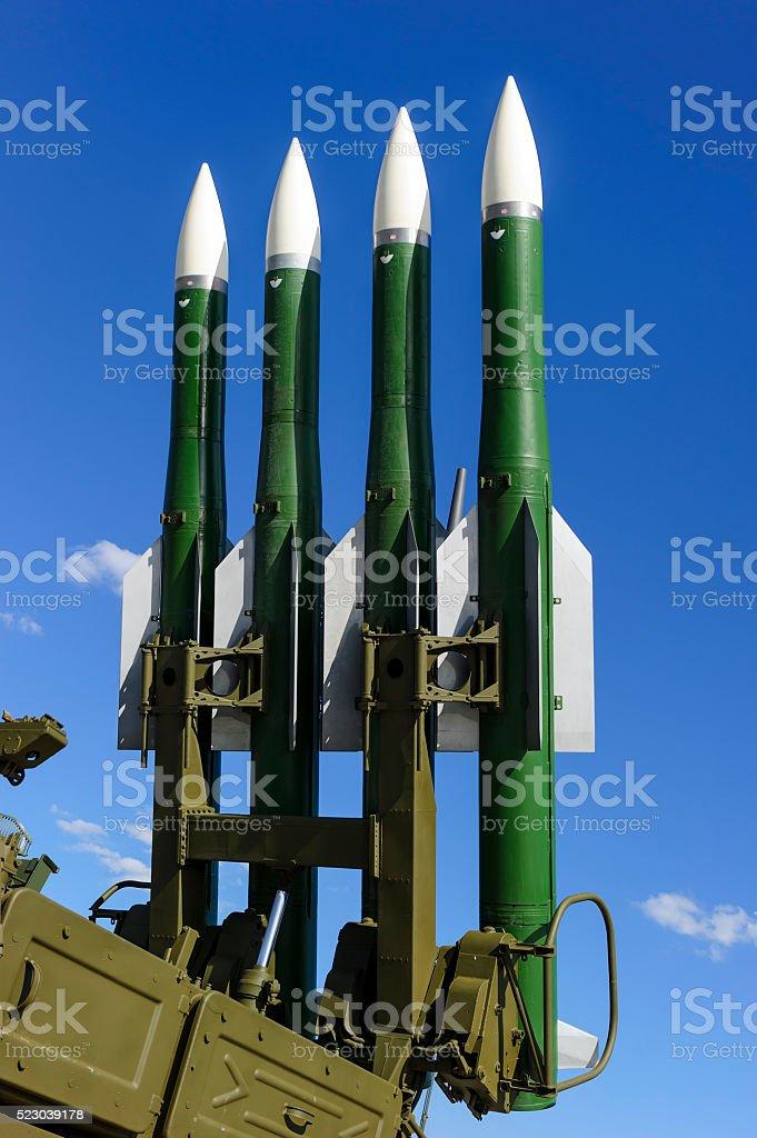 Ballistic missile launcher stock photo