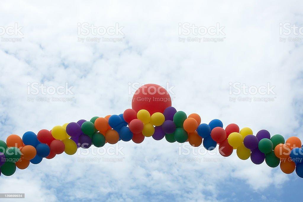 Ballon Arch stock photo