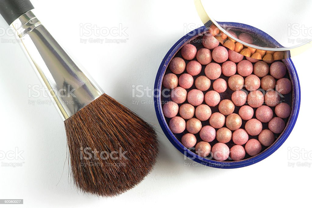 Ball-On Eyeshadow royalty-free stock photo