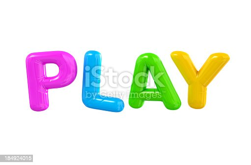 istock PLAY Ballon Letters. 184924015