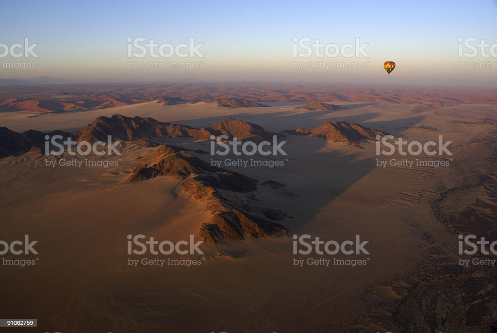 Balloning Namib Desert stock photo