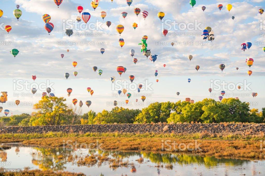 Ballons at the Albuquerque Ballon Festival stock photo