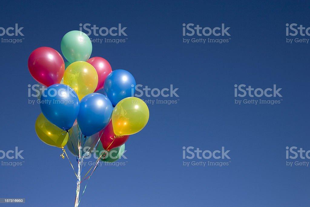 ballons on blue (XXL) stock photo