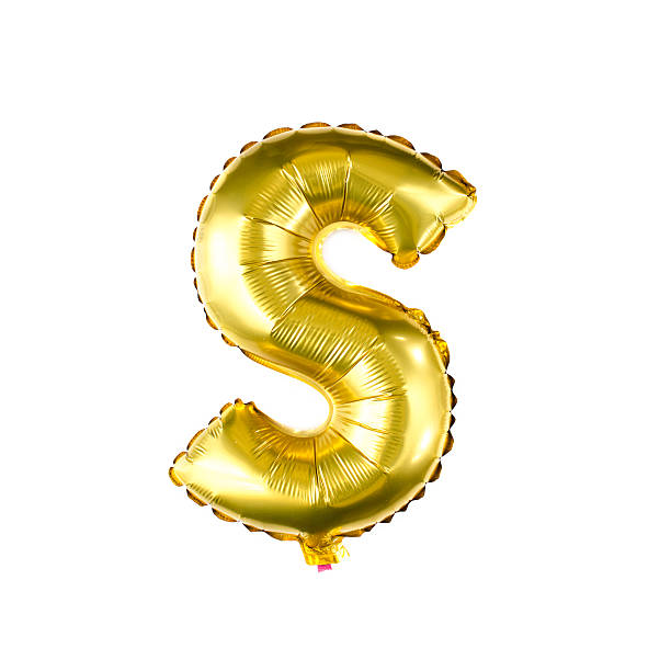 Balloon alphabet letter S stock photo
