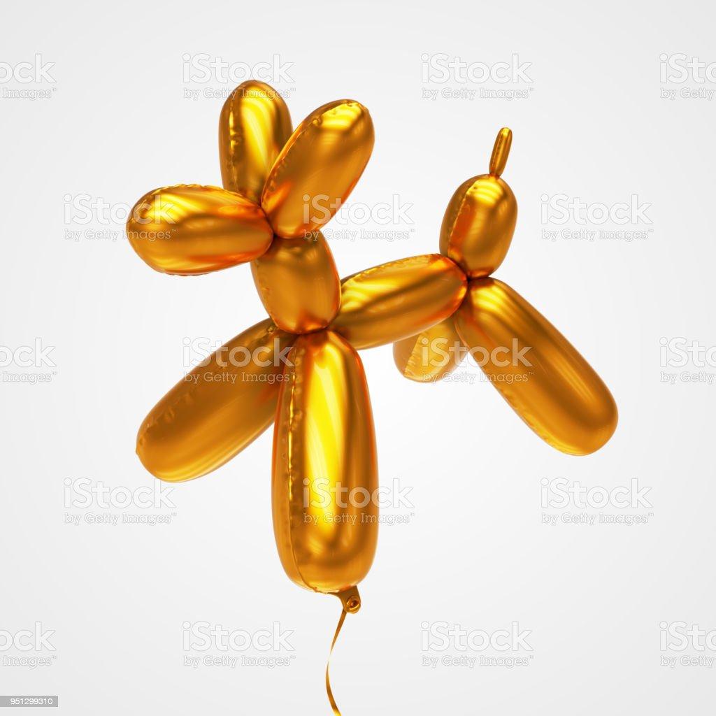 Balloon animal dog - Stock image stock photo
