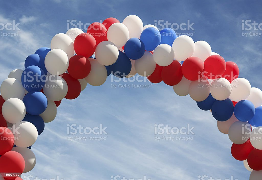 Balloon arch stock photo